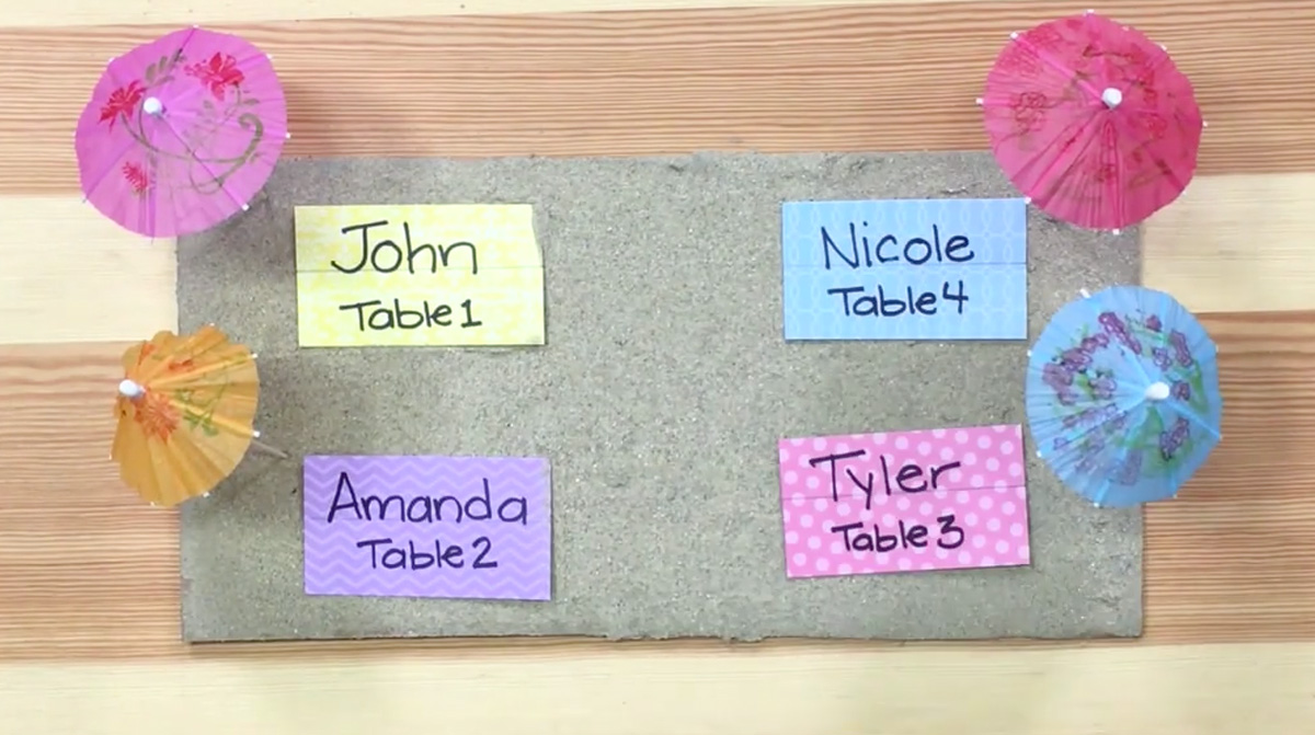 Beach Blanket Place Cards Craft