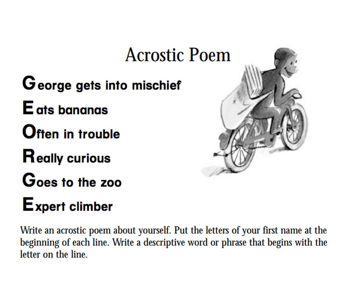 Curious george an acrostic poem familyeducation expocarfo Choice Image