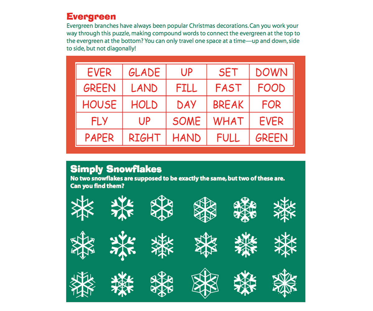 Christmas Word Puzzles Printable - FamilyEducation