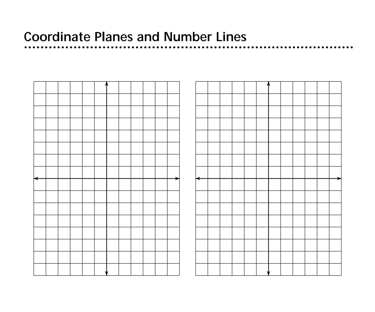 coordinate planes and number lines familyeducation