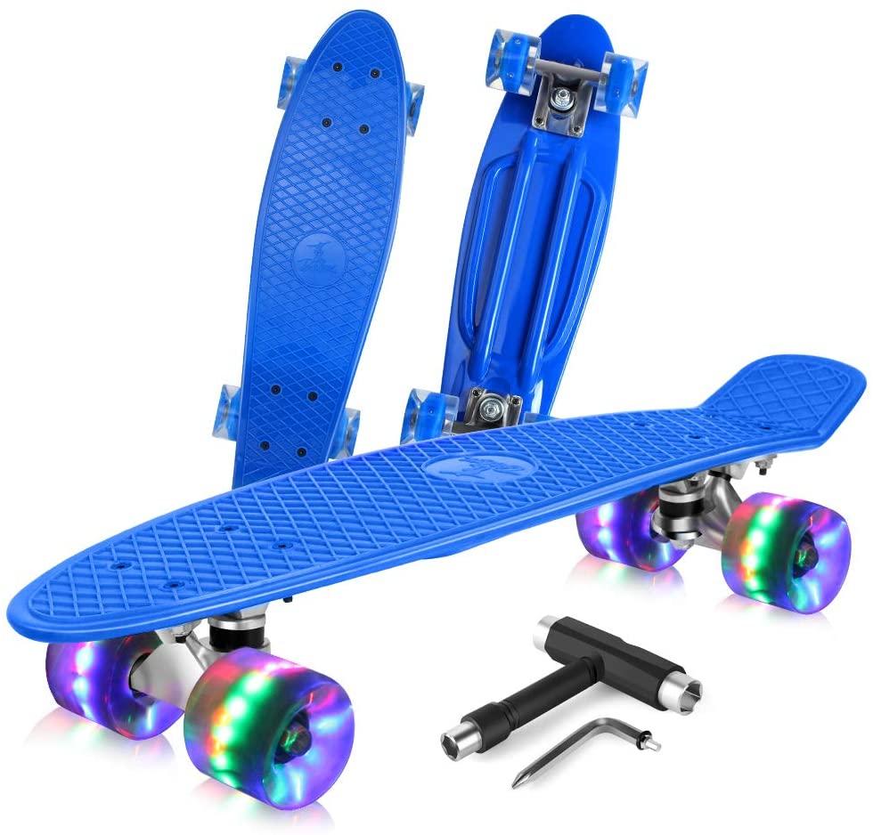 FlyBee Boards 27in Cruiser Skateboard Complete for Beginner and Teens,Trick Board