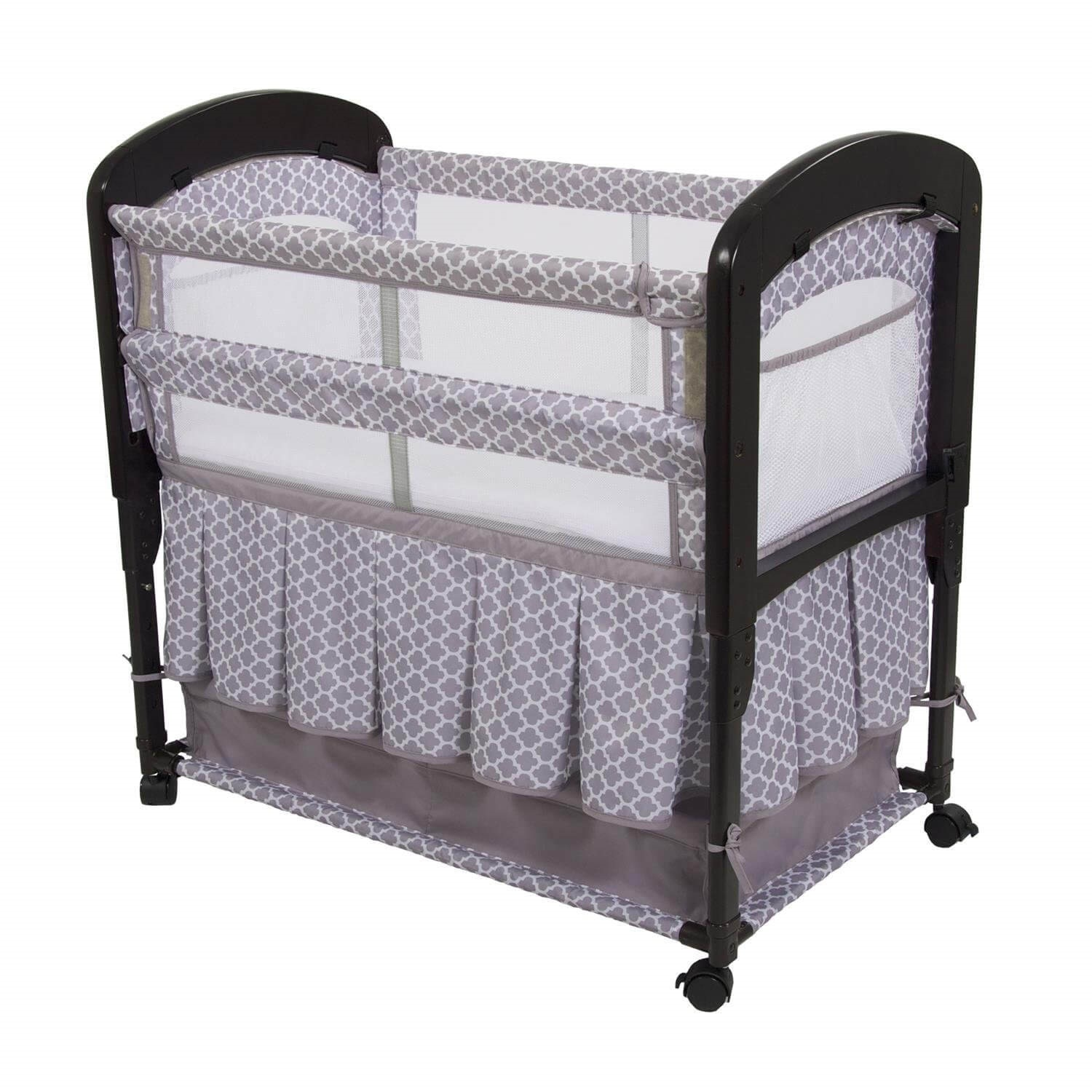 Armu0027s Reach Bedside Co-Sleeper  sc 1 st  FamilyEducation & Graco Pack n Play Where Should Newborns Sleep | FamilyEducation ...
