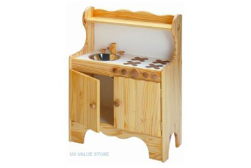 Play Kitchen By Little Colorado Best Toys Made In The Usa Wooden For Toddlers And Preschoolers