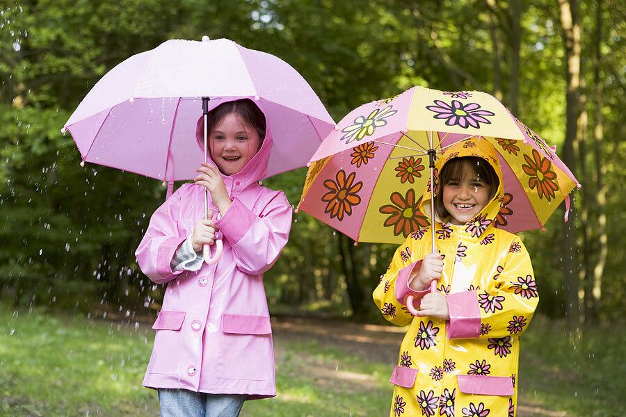Image result for rain coat wearing kids