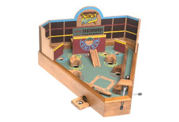 Tabletop Game, Wooden Pinball