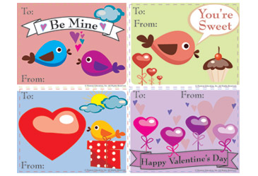 picture regarding Printable Valentines Day Cards for Kids identified as Printable Valentines Working day Playing cards Printable - FamilyEducation