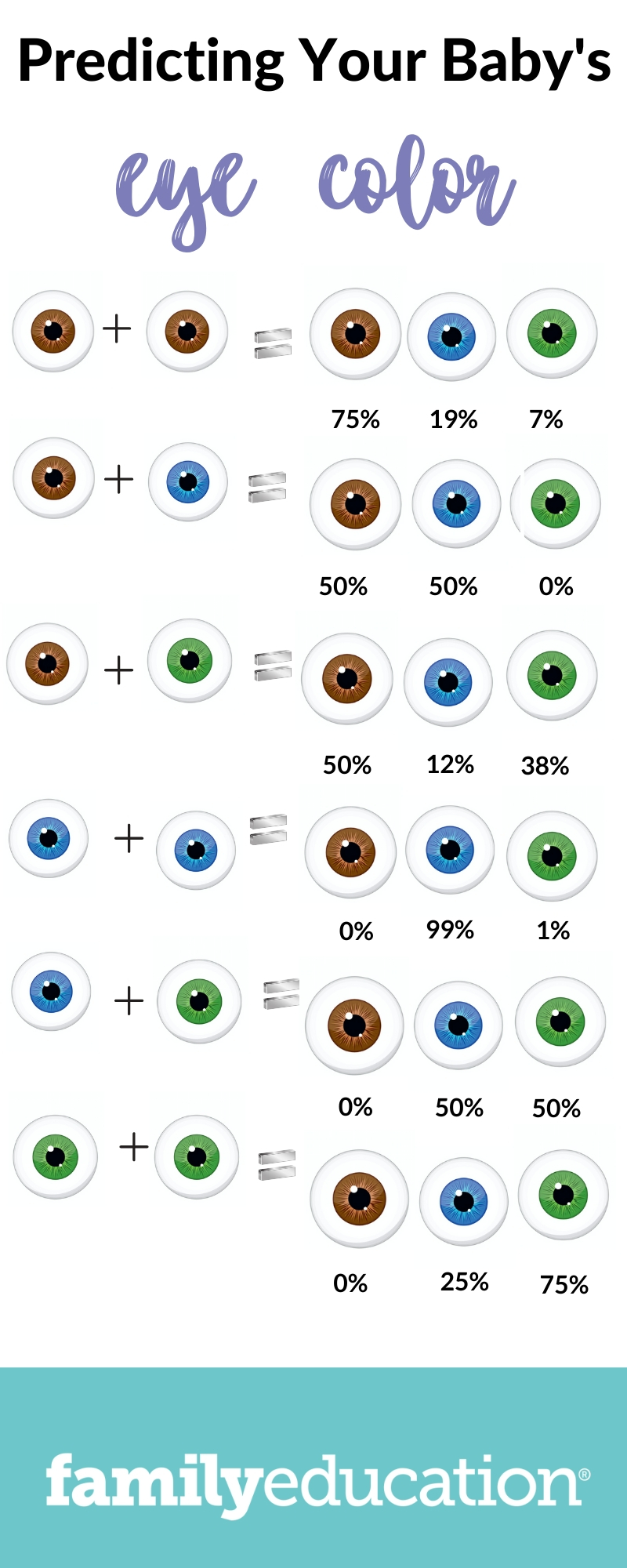 Will My Baby Have Blue Eyes A Genetic Explanation Eye Color Chart Familyeducation