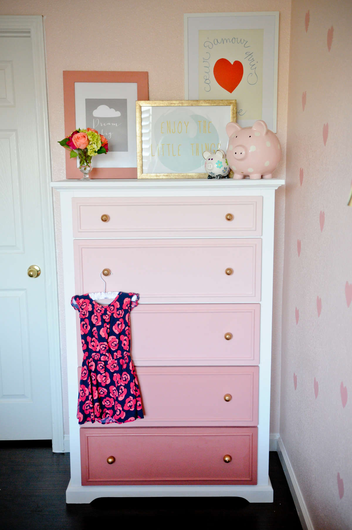 Diy kids room renovation ideas familyeducation colorful ombre dresser for kids room solutioingenieria Images
