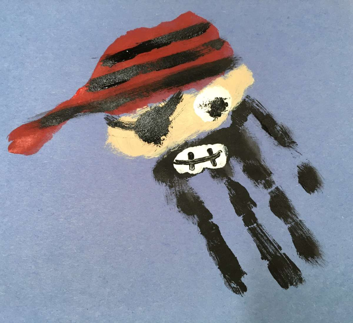 Pirate crafts for toddlers - Pirate Handprint Craft For Kids