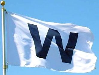W Victory Sign on Flag