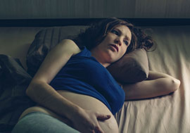 Pregnant Woman Having Difficulty Sleeping