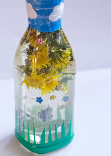 Flower Sensory Bottle Spring Craft