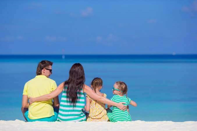Family on Beach Vacation Zika Prevention