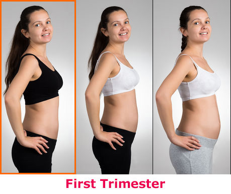 How many months (or weeks) before a pregnant woman starts ...
