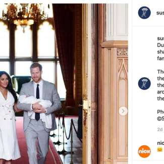 screenshot of the Sussex Royal instagram page