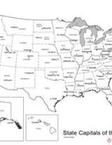 U S Map With State Capitals Geography Worksheet Familyeducation