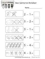 early learning basic subtraction practice worksheet  familyeducation early learning basic subtraction practice worksheet