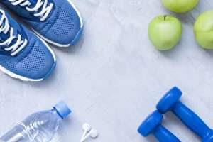 Sneakers, Weights, and Apples