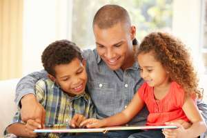 Father Reading Poems to Children