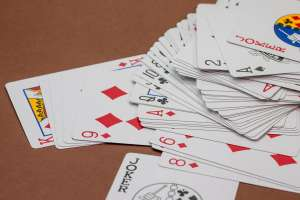 Crazy eights is a great card game for kids
