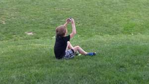 Kids can take their camera outside