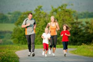family exercise game plan rriding outdoors