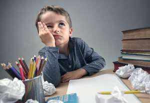 How to end homework battles - thinking frustrated child