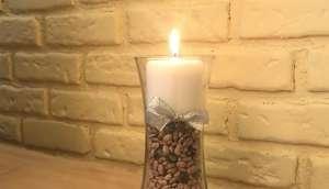 Thanksgiving Harvest Frost Candle Holder