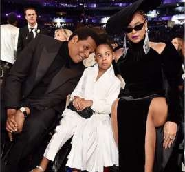 Beyonce, Blue Ivy and Jay-Z at the Grammys