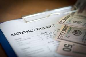create a monthly budgeting document