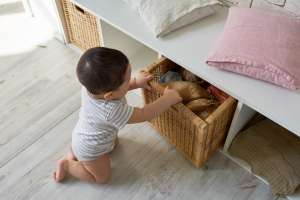 secret organizational drawer in baby