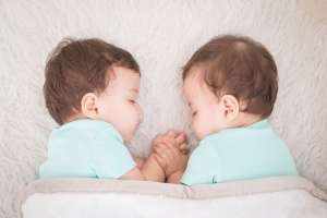 twin baby boys sleeping