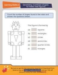 2nd Grade Geometry: Combine 2-D Shapes to Make Composite Figures