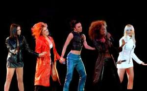 the spice girls wearing 90s fashion