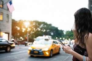 teen using uber