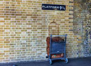 Platform 9 3/4 from Harry Potter series