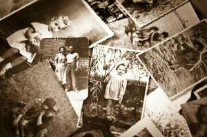 black and white photos found during genealogy research