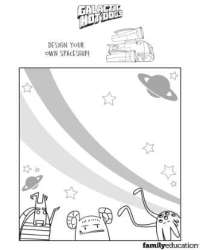 Galactic Hot Dogs Design Your Own Spaceship Printable Activity