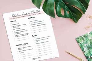 Volunteer Vacation Checklist