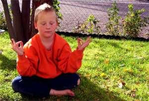 Boy, Meditation, Yoga