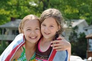 Summer camp essentials, summer camp girls in bathing suits