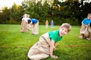 kids potato sack race