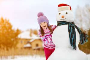 Cotton Ball Snowman Activity for Kids