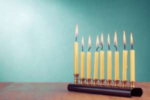 Handprint Menorah Card Activity for Kids
