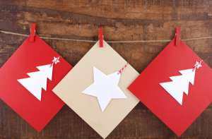 Holiday Card Display Activity for Kids