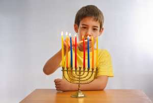 Homemade Hanukkah Menorah Activity for Kids