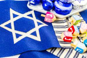 Patchwork Star of David Craft for Kids