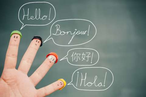 Hello in Five Languages