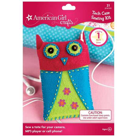American Girl owl tech case sewing kit