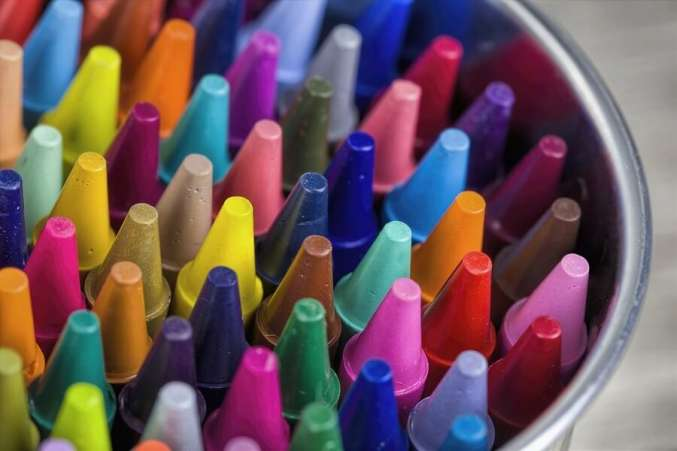 Spring Coloring Book and Crayons